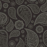 Seamless paisley texture. With flowers and leafs Stock Illustration