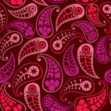 Seamless paisley texture for your design. Endless pattern with p Stock Photo