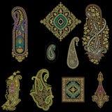 Seamless paisley traditional motif stock illustration
