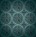 Seamless paisley vector wallpaper Stock Photo