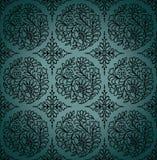 Seamless paisley vektorwallpaper Arkivfoto
