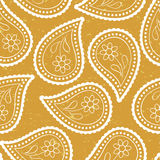 Seamless paisley wallpaper Asian style Royalty Free Stock Image