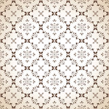 Seamless paisley wallpaper in brown Stock Photos