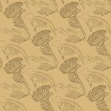 Seamless paleontology pattern with bones Stock Photo