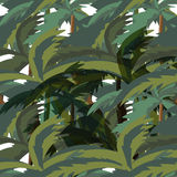 Seamless Palm Trees Leaves pattern Stock Photography