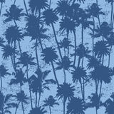 Seamless Palm trees pattern. Vector seamless Palm trees illustration for your business Stock Images