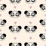 Seamless Panda Pattern Stock Images