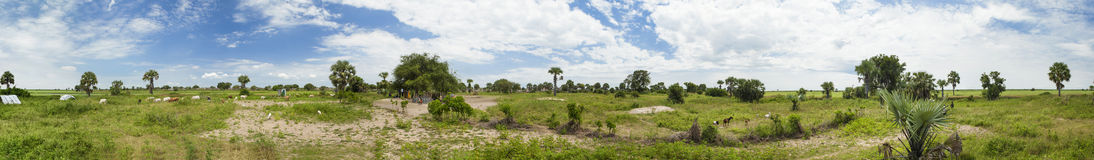 360 seamless panorama of South Sudan Stock Photo