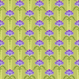 Seamless pansy background Royalty Free Stock Photo