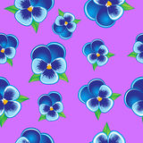 Seamless Pansy pattern Royalty Free Stock Photo