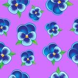 Seamless Pansy pattern Royalty Free Stock Photo