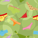 Seamless panties background Royalty Free Stock Photos