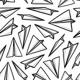 Seamless paper airplane background. Doodle style seamless paper airplane background illustration in vector format Royalty Free Stock Image