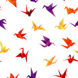 Seamless paper bird background Stock Images