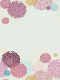 Seamless paper decor with flowers in japan style Stock Photo