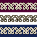 Seamless paper knot frame background Royalty Free Stock Photo