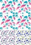 seamless paraply för höstbakgrundsregn Royaltyfria Bilder