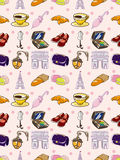 Seamless Paris element pattern Stock Photos