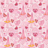 Seamless Paris pattern Stock Photo