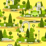 Seamless park pattern Stock Images