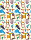 Seamless park playground pattern Stock Photo