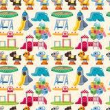 Seamless park playground pattern Stock Photos