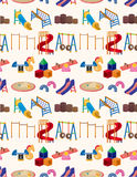 Seamless park playground pattern Royalty Free Stock Photo