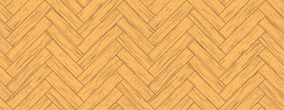 Seamless parquet. All the planks are different vector illustration