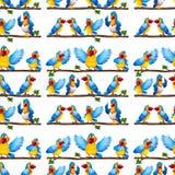 Seamless parrot Stock Image