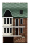 Seamless part of the facade terraced houses Royalty Free Stock Photos
