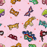 Seamless party mask pattern Royalty Free Stock Image