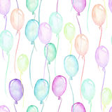 Seamless party pattern with multicolored air balloons Royalty Free Stock Photography