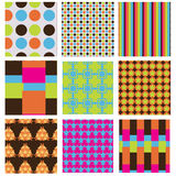 Seamless Party Swatch Pattern Set Royalty Free Stock Image