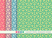 Seamless pastel background set geometry arrow triangle cross Royalty Free Stock Photography