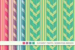 Seamless pastel background set primitive check arrow line Royalty Free Stock Photo