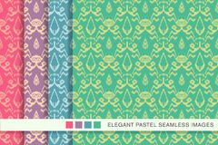 Seamless pastel background set Sawtooth Edge Aboriginal Cross Bo. Tanic Frame, collection of stylish vintage retro pattern ideal for greeting card banner or Royalty Free Stock Image