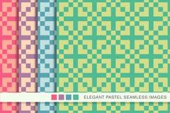 Seamless pastel background set square cross mosaic Royalty Free Stock Photo