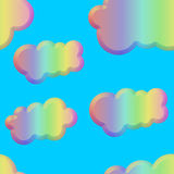 Seamless pastel beveled clouds tile royalty free illustration