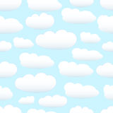 Seamless pastel clouds Royalty Free Stock Images