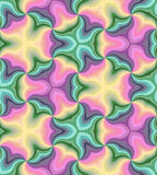 Seamless Pastel Colored Curls Pattern.Geometric Colorful Abstract Background. Suitable for textile, fabric and packaging Royalty Free Stock Image