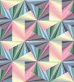Seamless Pastel Colored  Polygonal Pattern. Geometric Abstract Background. Suitable for textile, fabric, packaging and web design. Vector Illustration. Seamless Royalty Free Stock Photography