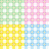 Seamless pastel colors floral pattern Stock Photo