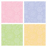 Seamless pastel decorative pattern Stock Photos