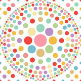 Seamless pastel dot ball abstract background vecto Royalty Free Stock Photo