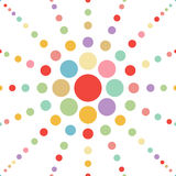 Seamless pastel dot flower abstract background vec Royalty Free Stock Images
