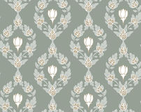 Seamless pastel floral wallpaper Stock Photography