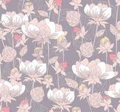 Seamless pastel flowers pattern Stock Photos