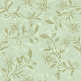 Seamless pastel green floral background. Stock Photo
