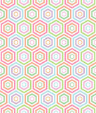 Seamless pastel hexa pattern background Royalty Free Stock Photography