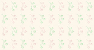 Seamless pastel liana pattern Stock Photos